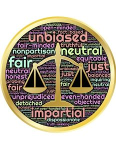 mediation is fair and unbiased - scales of justice