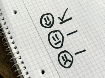 Higher Satisfaction with Mediation happy face